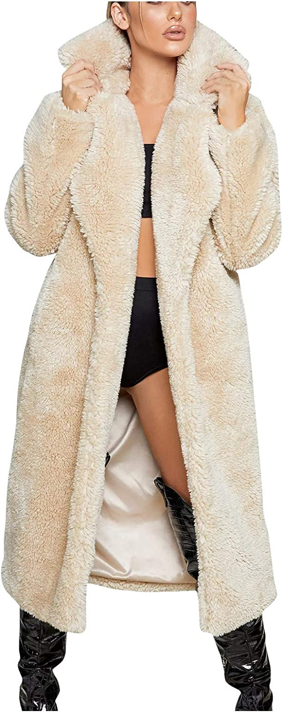 Womens Winter Coats, Ulanda Women Fur Faux Warm Fuzzy Fleece Lap