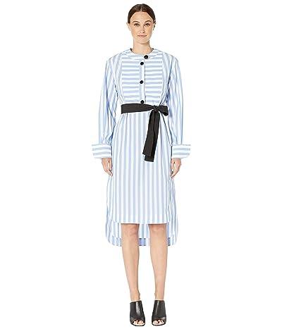 YIGAL AZROUEL Candy Monostripe Tunic Dress (Cornflower Multi) Women