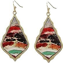 Bravetoshop Women Jewelry Bohemian Vintage Dangle Earrings Retro Rhinestone Earrings Boho Dangle Drop Earrings for Women Girls Gifts
