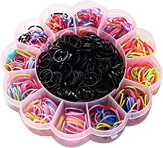 Hair Tie Elastic Rubber Bands 1Box (800PCS), Beautyshow Multicolor Hair Ponytail Holder Band for Baby Kids Girls