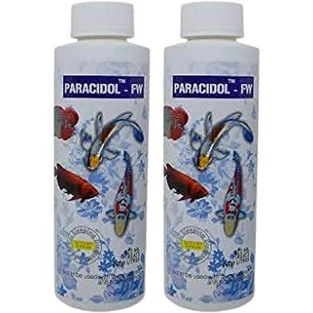 Foodie Puppies Aquatic Remedies Paracidol Freshwater Aquarium Medicine with Free Key Ring (120ml, Pack of 2)