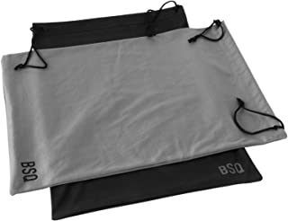 Microfiber Pouch 11 x 14 Inch (2 Pack) - Soft Cloth Storage Bag(s) for Eyeglasses, Sunglasses, Oakley Glasses, Gifts, Coins, Jewelry, Electronic Gadgets, Mobile Cell Phone - Black & Dark Grey