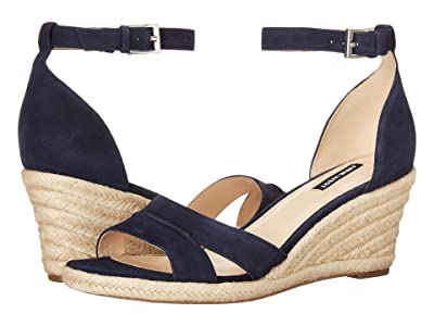 Nine West Jabrina Wedge Sandal (Navy) Women
