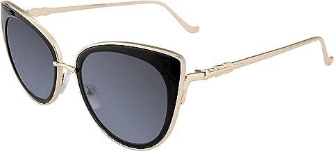 FEISEDY Cat Eye Women Sunglasses Metal Frame UV400 HD Lenses B2249