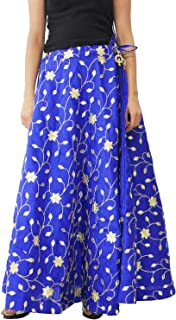 Matelco Womens Silk Skirt with Gota Work All Over (Free Size)