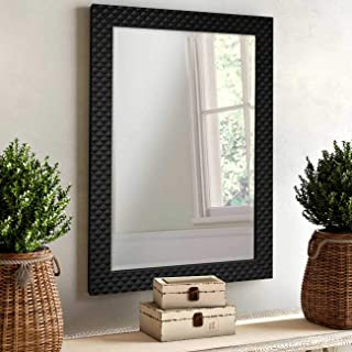 Art Street Marble Finish Wall Decorative Mirror for Home and Bathroom - 14.5X20.5 Inchs, Color -Black
