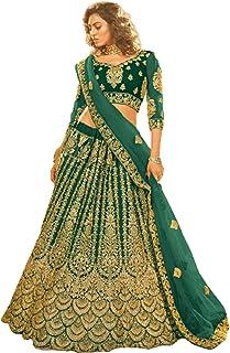 تصميم مذهل هندية قص الزفاف مزين ليهينغا الزفاف غاغرا شولي صافي دوباتا 6217