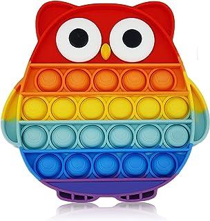Fidget Toys Push Pop Bubble Fidget Sensory Toy Anxiety Relief Toys Push Pop Fidget Toy Autism Special Needs Silicone Stres...