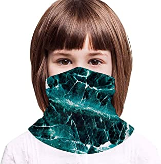 Rocks And Sea - Máscara de protección UV, color verde esmeralda para niños, ideal para ciclismo, pesca al aire libre
