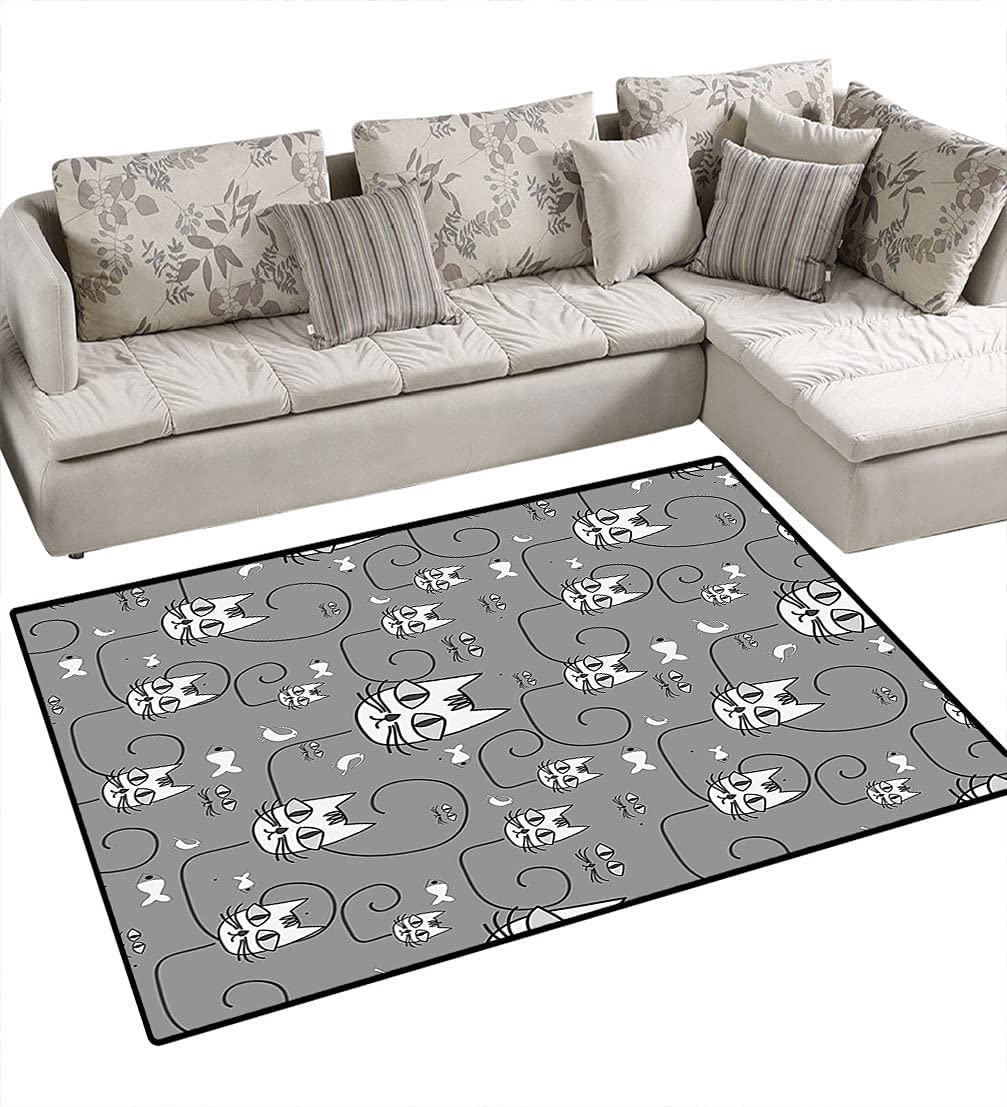 Branded goods Animal Area Rugs Floor Covers Cartoon Cute Birds favorite Cats Fis Style