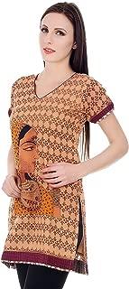 Devaleena Creations Rani print Embroidery Work Kurta