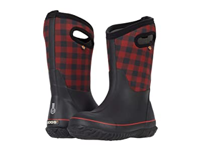 Bogs Kids Classic Buffalo Plaid (Toddler/Little Kid/Big Kid) (Black Multi) Kid