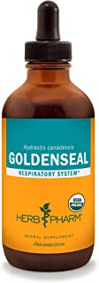Herb Pharm Certified Organic Goldenseal Liquid Extract for Respiratory System Support - 4 Ounce