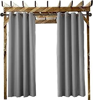 ChadMade Outdoor Waterproof Curtain Grey 84