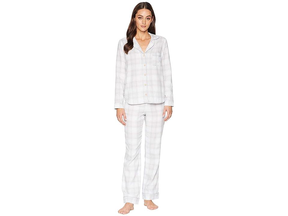 UGG Raven Woven Sleepwear Set Flannel Gift (Lavender Aura Plaid) Women