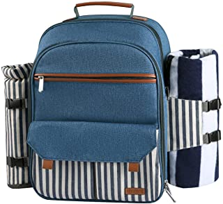 Picnic Backpacks Service For 4 Picnic Backpacks Picnic Baskets Tables A Patio Lawn Garden