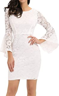 Long Sleeve Lace Cocktail Dresses for Women Party Wedding