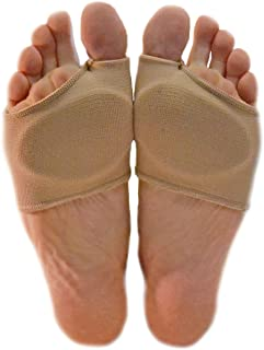 NatraCure Gel Metatarsal Pads with Metatarsalgia Forefoot Cushion - for Ball of Foot Pain Relief (Size: Large/X-Large) - 1 Pair