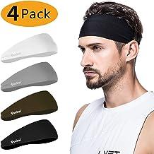 پیشانی مردانه poshei (4 بسته) ، پیشانی مردانه پیراهن زنانه و ورزشی برای دویدن ، کراس اوت ، دوچرخه سواری ، یوگا ، بسکتبال - رطوبت کشش Wicking Unisex مو