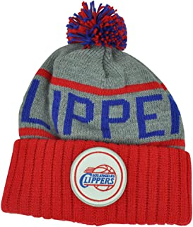 Mitchell & Ness Los Angeles Clippers NBA High 5 Gray Current Cuffed Knit Hat