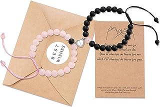 Jeka Magnetic Matching Couples Bracelets Natural Stone Matte Agate Beads Distance العلاقات الهدايا للرجال النساء أصدقائه