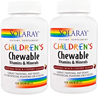 Children's Chewable Vitamins & Minerals Solaray 120 Chewable, 2 pack
