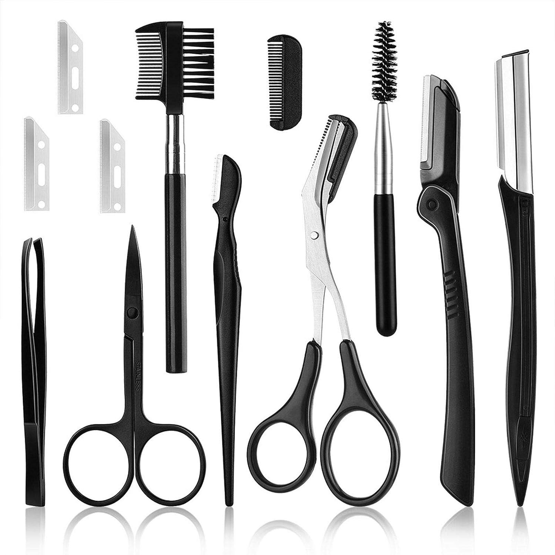 Eyebrow Scissors 11PCS Kit Free shipping New Professional famous Groomi