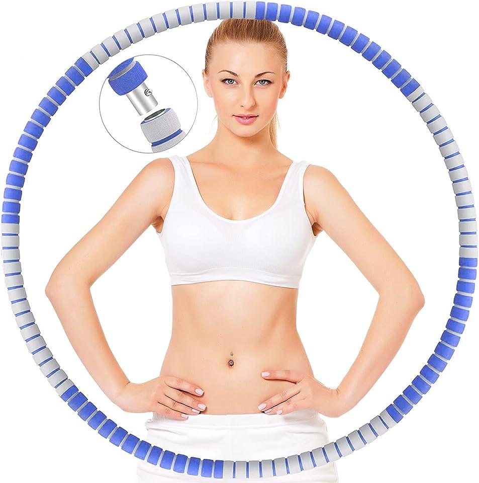 ZIMAIC Hula Hoop Reifen Erwachsene, Upgraded Fitness Hula Hoop, Verbesserter Edelstahlkern mit Dicker Premium Schaumstoff für Abnehmen, Fitness, Massage,von 1 bis 3,2kg