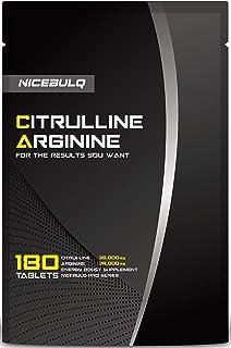 NICEBULQ アルギニン 36000mg シトルリン 36000mg 亜鉛 サプリメント 180粒 30日分