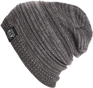 Knit Baggy Hat,ChainSee Woman Man Girls Boys Fashion Unisex Winter Slouchy Beanie Ski Wool Warm Cap (Gray)