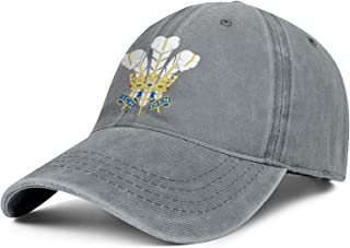 CCBING Welsh Prince of Wales's Feathers Unisex Baseball Cap Fashion Cowboy Hats