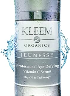 Kleem Organics Vitamin C Serum for Face with Hyaluronic Acid & Vitamin E | Natural..