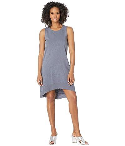 Dylan by True Grit Luxe Cotton Slub High-Low A-Line Tank Dress (Vintage Navy) Women