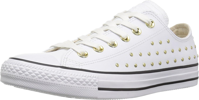 Converse Womens CTAS Ox White White gold Sneaker