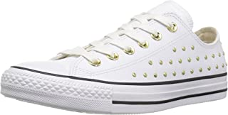 Converse Women's CTAS Ox White/Gold Sneaker