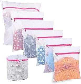 BoxLegend Sacs à Linge Filet à Linge Sacs en Tissu pour la lessive - Paquet de 7, Sac de Machine à Laver résistant pour Bl...