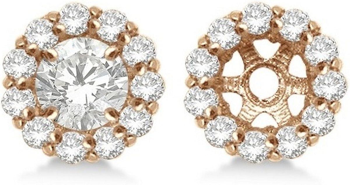 14k Gold Round Diamond Earring Jackets for your 5mm Diamond Studs Diamond Jackets 0.77ct