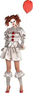 It Pennywise Costume for Women, Includes a Dress, Leg Warmers, Boot Toppers, and a Collar