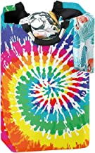 CaTaKu Rainbow Tie Dye Laundry Hamper Laundry Basket Box Big Storage Waterproof Easy Carry for Family Dormitory Laundry Room