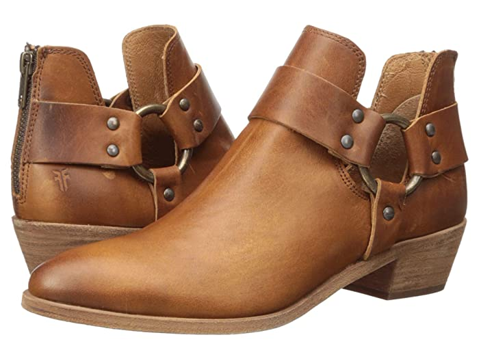 Frye  Ray Harness Back Zip (Caramel Antique Pull Up) Womens Pull-on Boots