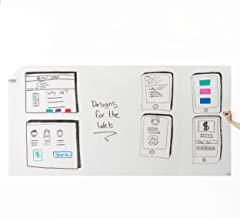 Think Board Self-Adhesive Whiteboard Wall Sticker, 4' x 8' Extra Large Peel and Stick Dry Erase Board Wall Cling for Home and Office, Removable Wall Decals, Super Sticky, Stain-Proof Message Board