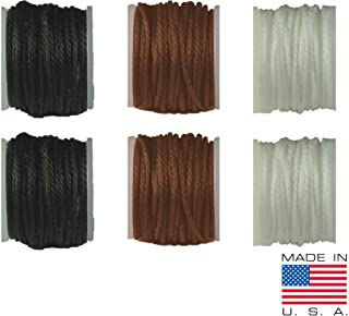 Leather, Canvas Sewing Awl Thread Refill, Replacement Threads, for Awl for All Stitching Tool – Made in USA (Thread Replacements, 3-Color / 6-Pack)