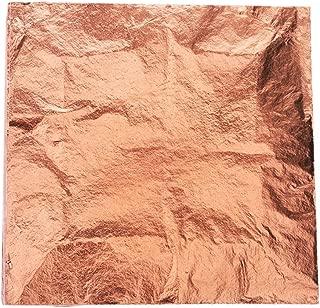 Zehhe 100 Sheets 5.5 by 5.5 inches Imitation Gold Leaf Foil Paper for Arts, Gilding Crafting, Decoration DIY (Rose Gold)