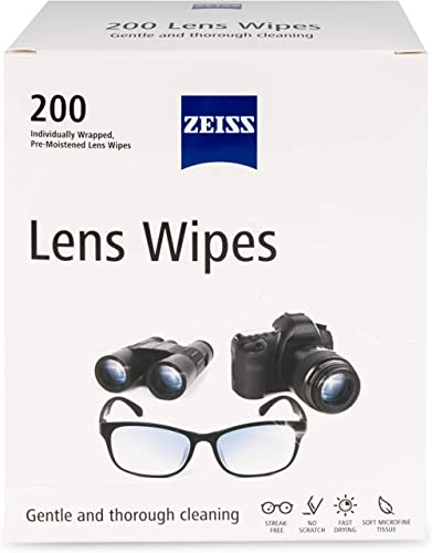 Zeiss Pre-Moistened Lens Cleaning Wipes 200 Ct