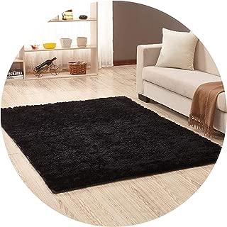 Show-Show-Fashion Shop&Pink Color Living Room Warm Carpet European Fluffy Rug Bedroom Mat Soft Faux Fur Area Rug Rectangle Mats Made,Black,40x60cm