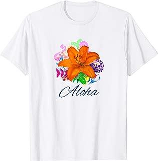 Aloha Hawaiian Hibiscus Flower Novelty Fashion T Shirt Top