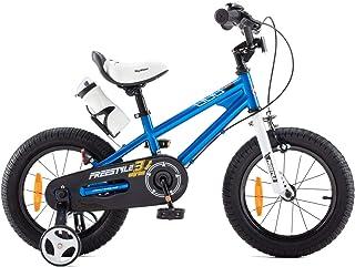 RoyalBaby Jongens Meisjes Kinderfiets Freestyle 12 14 16 18 20 Inch Fiets voor 3-12 jaar Kinderfietsen Met zijwieltjesof f...