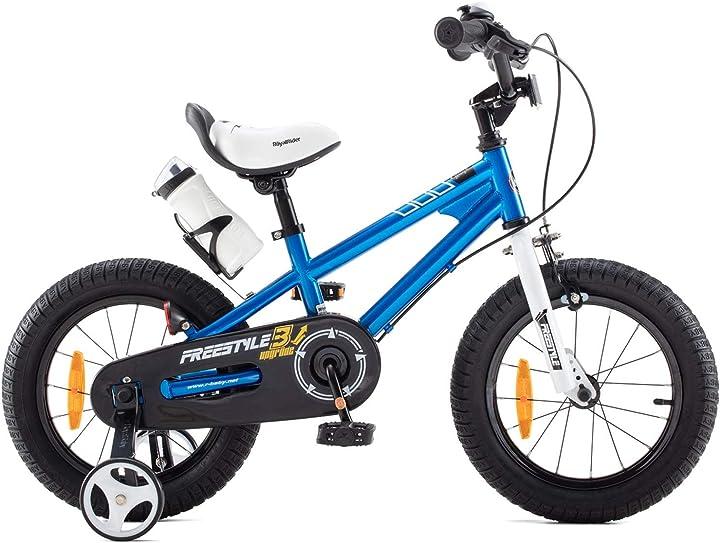 Bicicletta a rotelle per bambini ragazza ragazzo 3-12 anni freestyle bmx 12 14 16 18 20 pollici  royalbaby B08M3L11S3