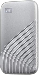 WD 1TB My Passport SSD External Portable Solid State Drive, Silver, Up to 1,050 MB/s, USB 3.2 Gen-2 and USB-C Compatible (...