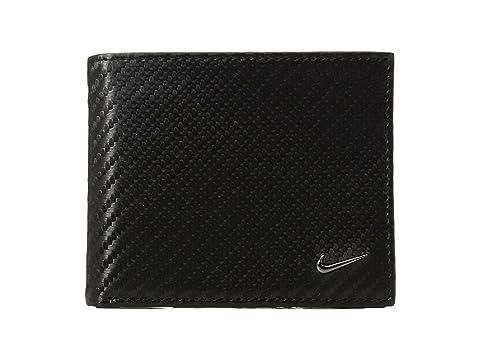 negra Nike fibra textura de con de Cartera billetera carbono 8wqTOx5U